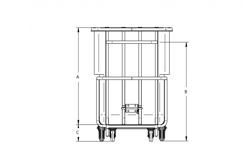 Chariot Basculant en polyéthylène extra robuste