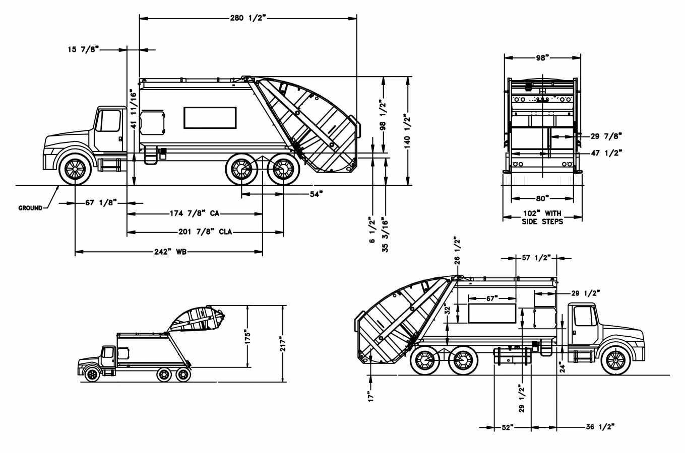 Benne à chargement arrière à double compartiment - Eco-Splitter