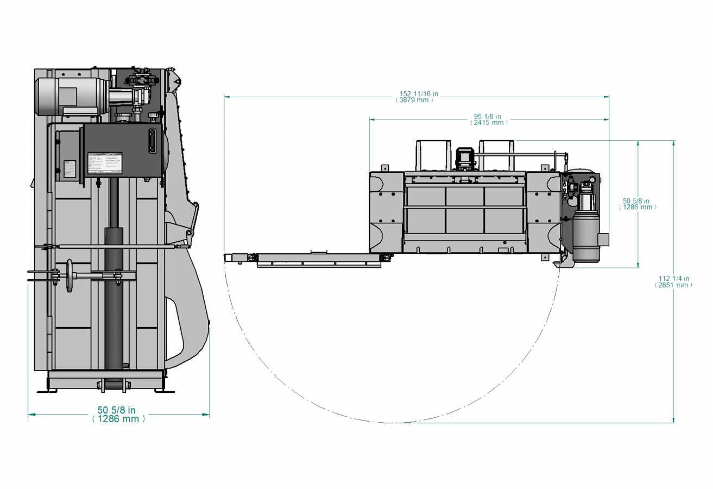 Presse verticale à profil bas PVB-600-LP - avec éjecteur de ballots optinnel