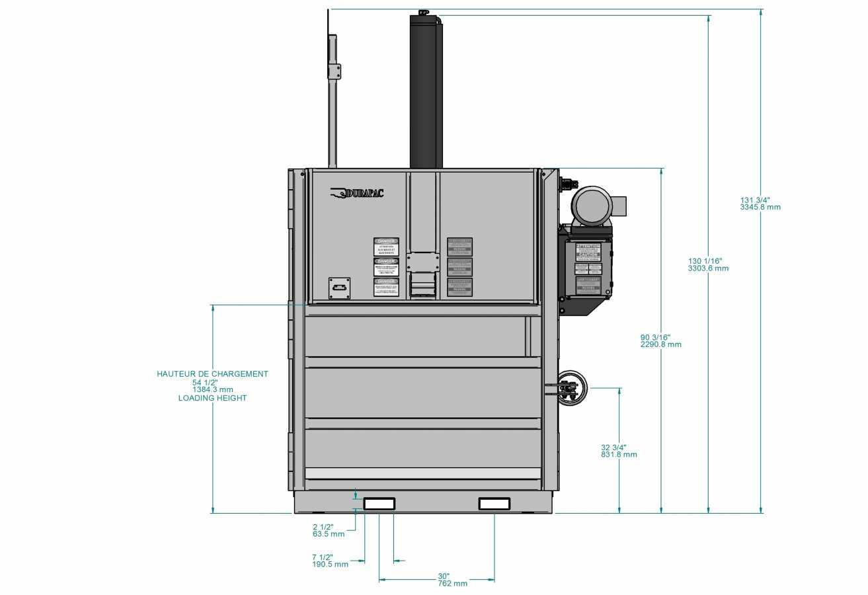 Presse verticale PVB-1000 STD