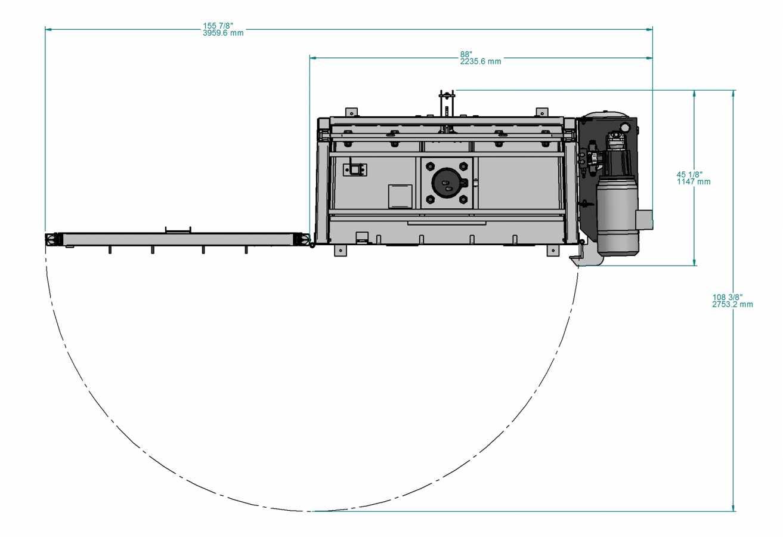 Presse verticale PVB-1000 - vue de haut