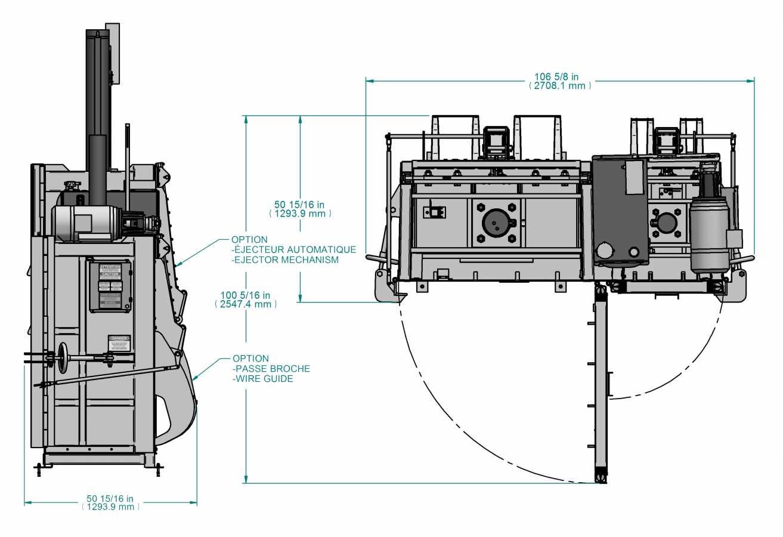 Presse verticale PVB-2C - avec éjecteur de ballots optionnel