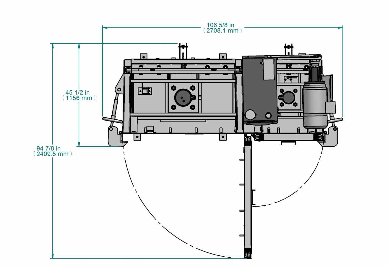 Presse verticale PVB-2C - vue de haut