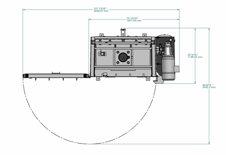 PVB-600 vertical baler - top view