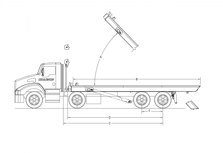 DRC-6025-AF - Longerons extérieurs avec cylindres intégrés