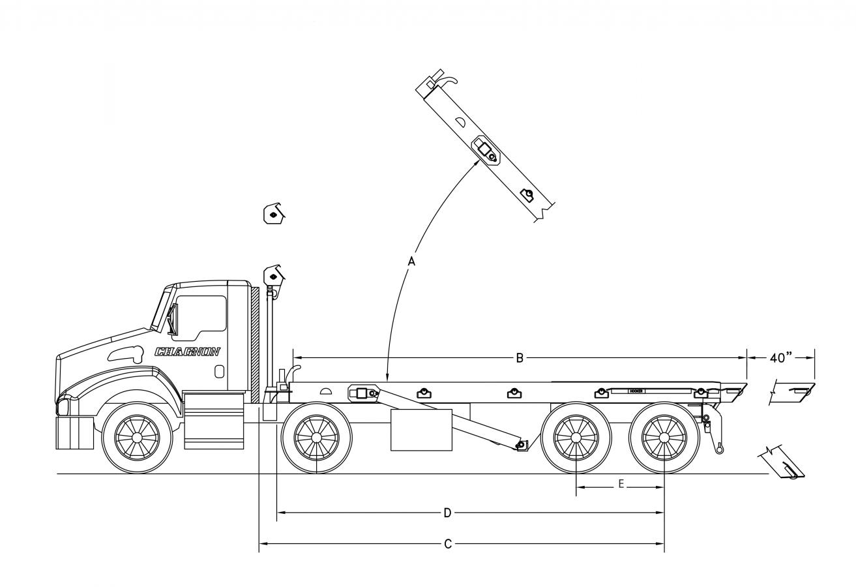 DRC-OR serie 75000 lb - longerons extérieurs avec rouleaux - queue téléscopique (opt.)