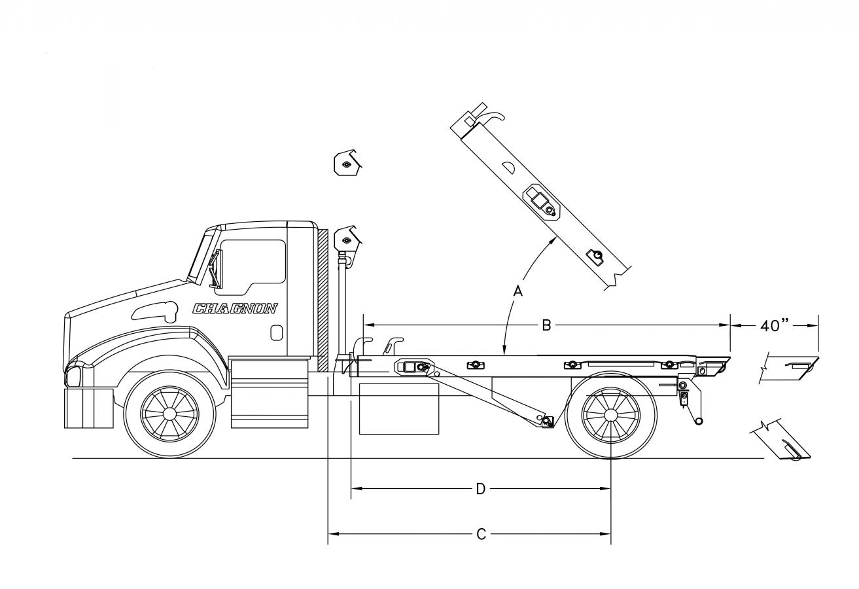 DRC-OR serie 20000 lb - longerons extérieurs avec rouleaux - queue fixe
