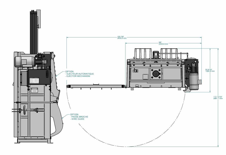 Presse verticale PVB-1000 - avec éjecteur de ballots optinnel