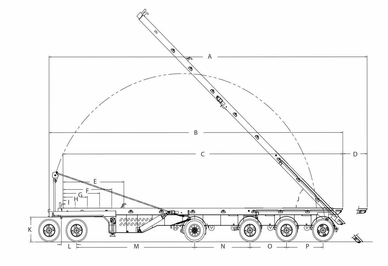 Remorque roll-off « straight deck » - 4 essieux
