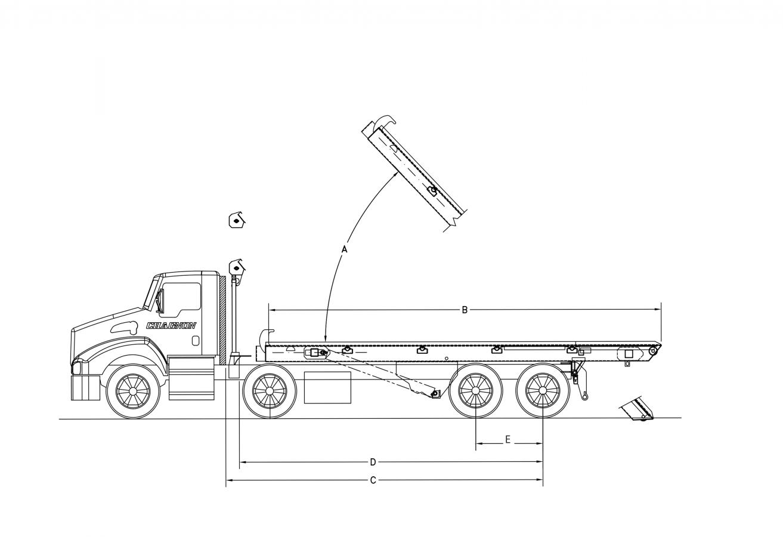 DRC-IO Série 60 000lb Systène de levage ''Roll-off''- longerons intérieurs extérieurs