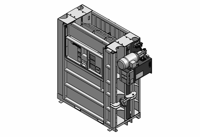 Presse verticale à carton - profil bas