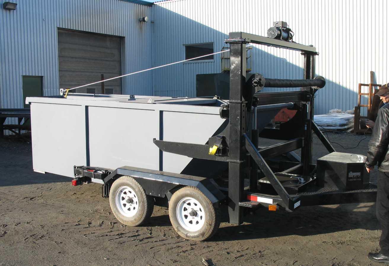 RFL-8000 · avec un contenant à chargement arrière