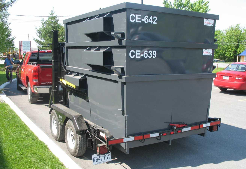 RFL-8000 · Remorque pour contenants à chargement avant