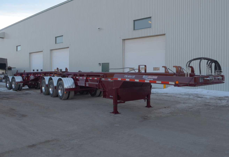 B-train roll-off trailer