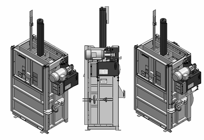 PVB-600 vertical cardboard baler