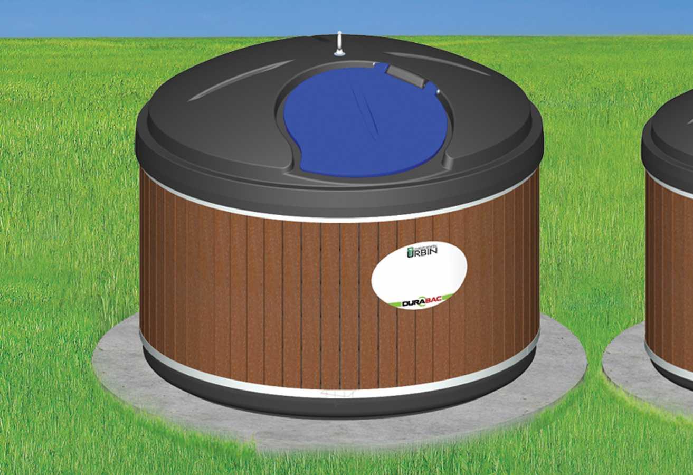 Contenant semi-enfoui - plastique - 2000 litres