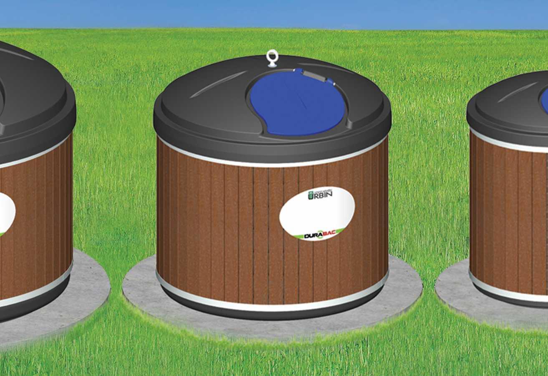 Contenant semi-enfoui - plastique - 1000 litres