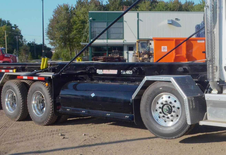 Les cylindres intégrés à l'intérieur du châssis accomodent les réservoirs à gaz latéraux