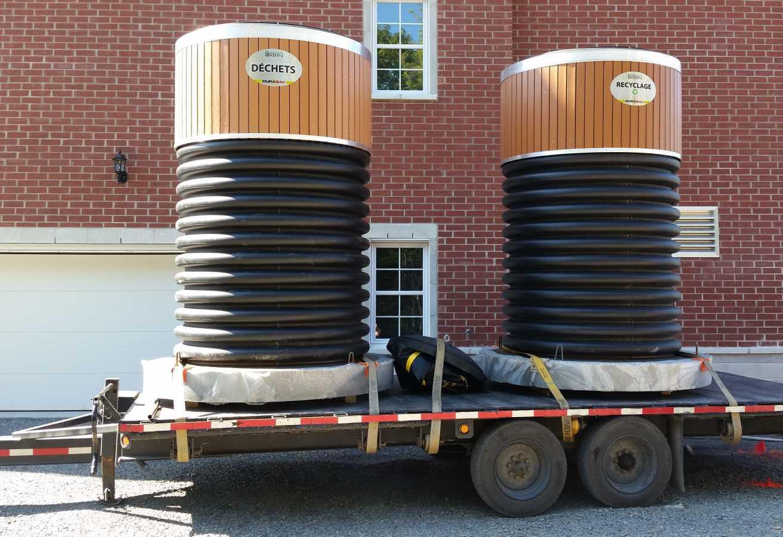 Contenant semi-enfoui - plastique - 5000 litres