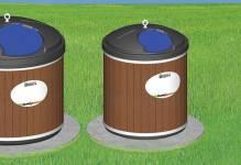 Contenant semi-enfoui - plastique - 500 litres