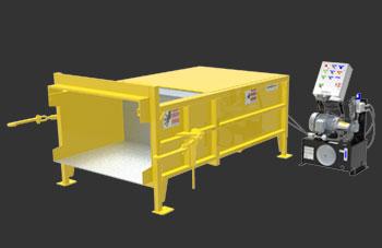 Compacteur stationnaire industriel à un cylindre