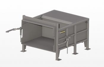 Compacteur stationnaire industriel à deux cylindres